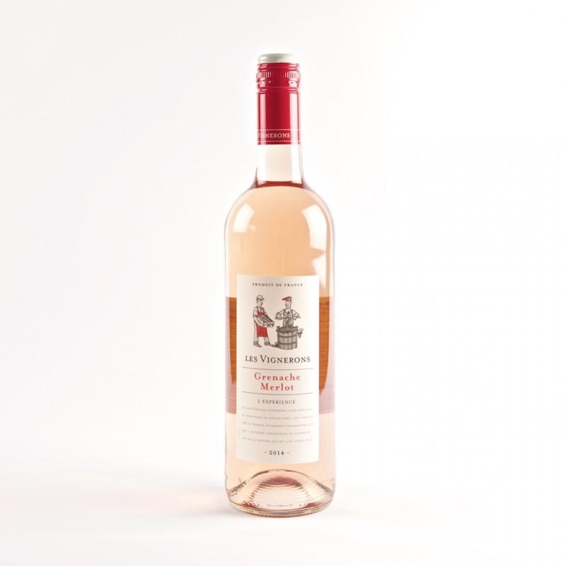Les Vignerons Grenache Merlot Rose VDF